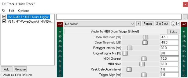 REAPER : MIDI-Trigger a Drum VSTi with a Kick Track | Jake