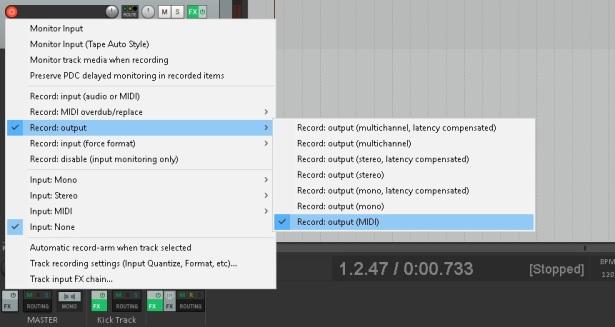 REAPER : MIDI-Trigger a Drum VSTi with a Kick Track | Jake